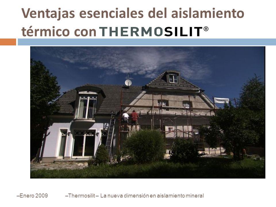 Ventajas esenciales del aislamiento térmico con