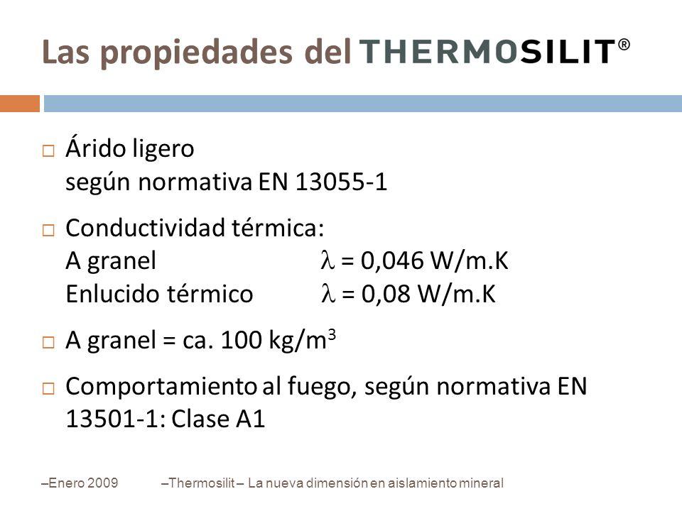 Las propiedades del Árido ligero según normativa EN 13055-1