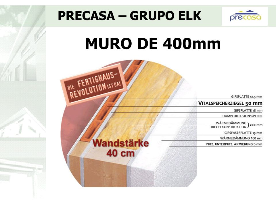 PRECASA – GRUPO ELK MURO DE 400mm