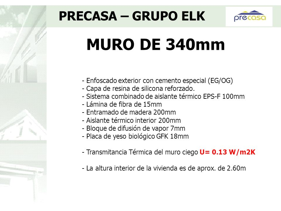 MURO DE 340mm PRECASA – GRUPO ELK