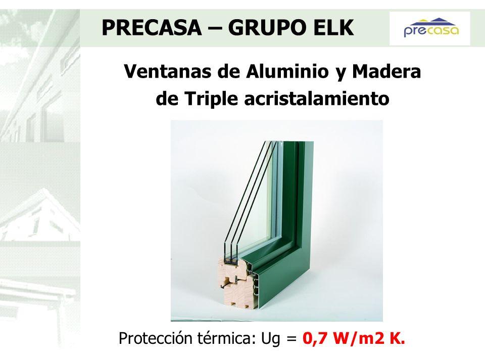 Ventanas de Aluminio y Madera de Triple acristalamiento