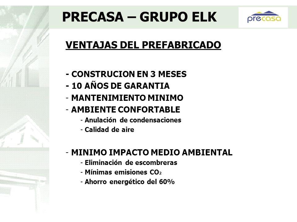 PRECASA – GRUPO ELK VENTAJAS DEL PREFABRICADO - CONSTRUCION EN 3 MESES