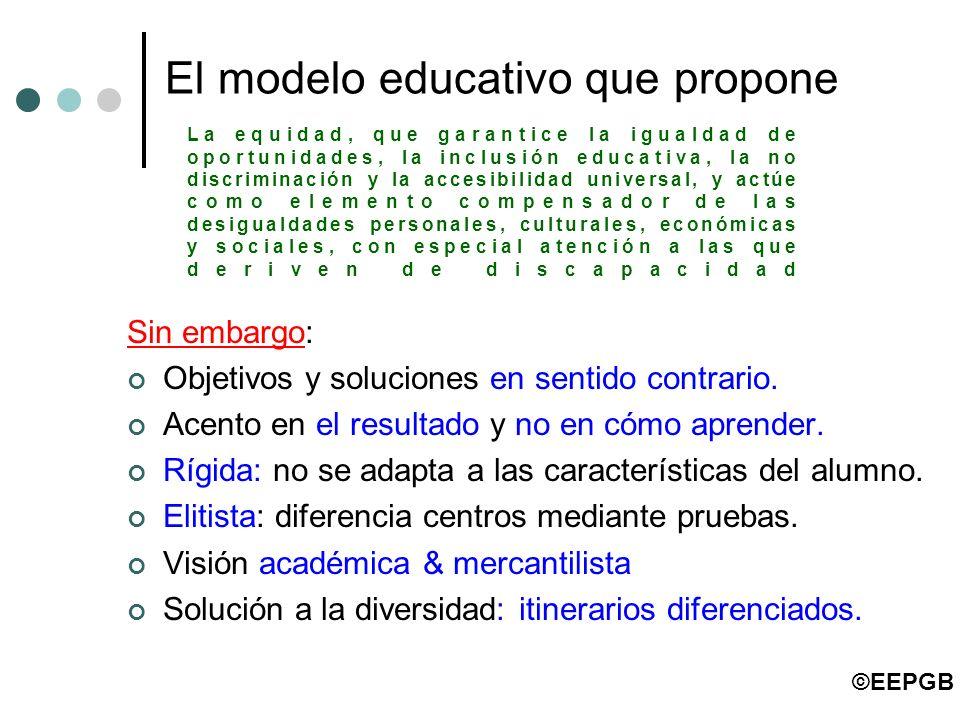 El modelo educativo que propone