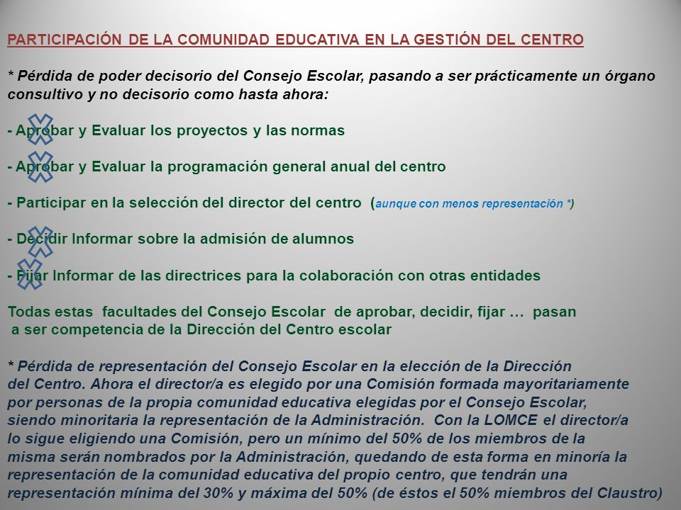 PARTICIPACIÓN DE LA COMUNIDAD EDUCATIVA EN LA GESTIÓN DEL CENTRO