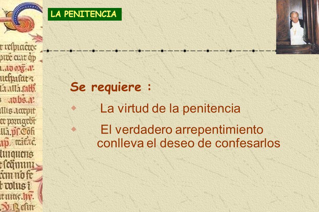 La virtud de la penitencia