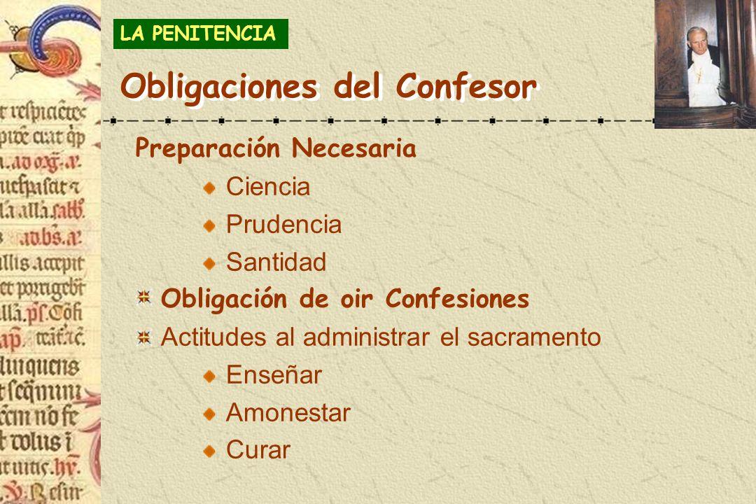 Obligaciones del Confesor