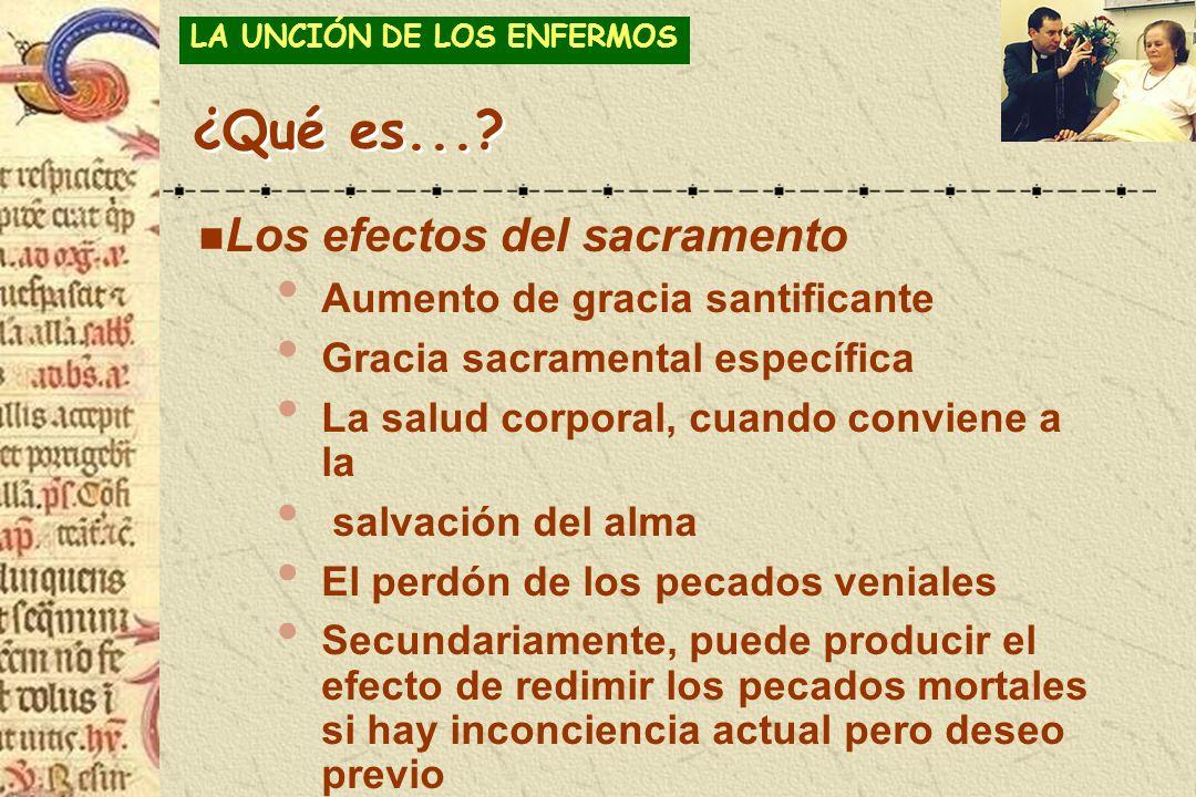 ¿Qué es... Los efectos del sacramento Aumento de gracia santificante