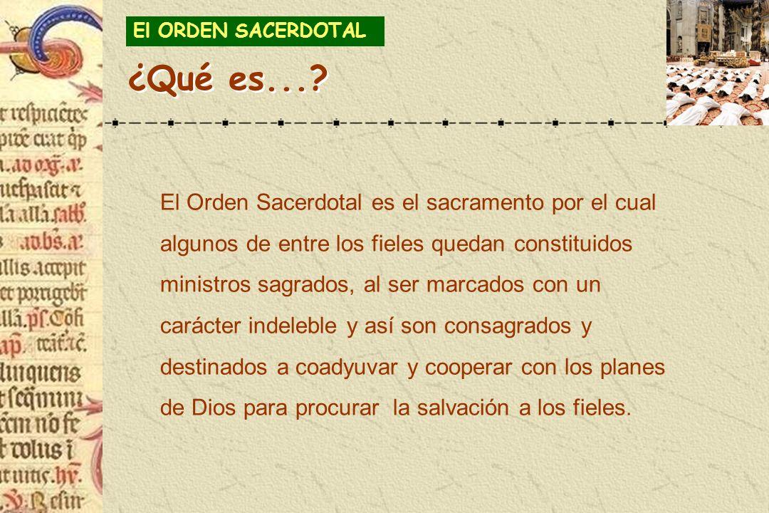 El ORDEN SACERDOTAL ¿Qué es...