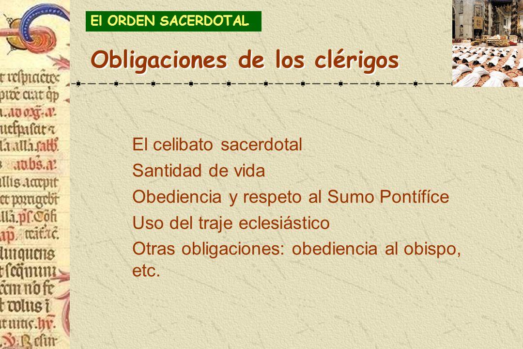 Obligaciones de los clérigos