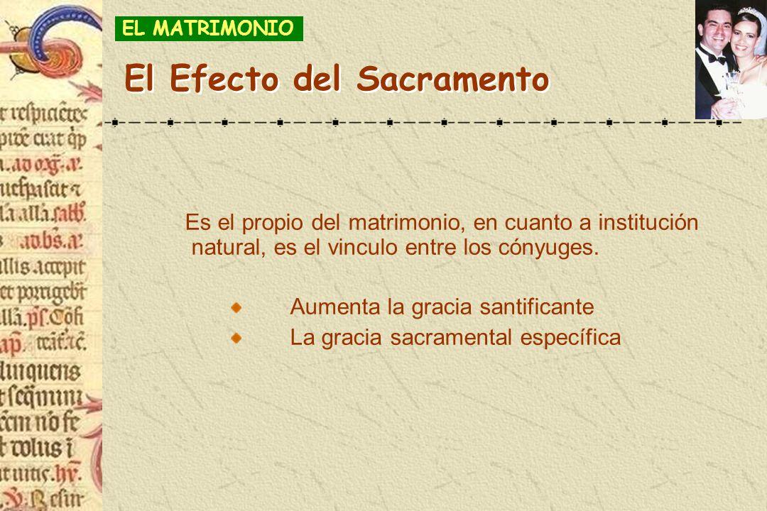 El Efecto del Sacramento