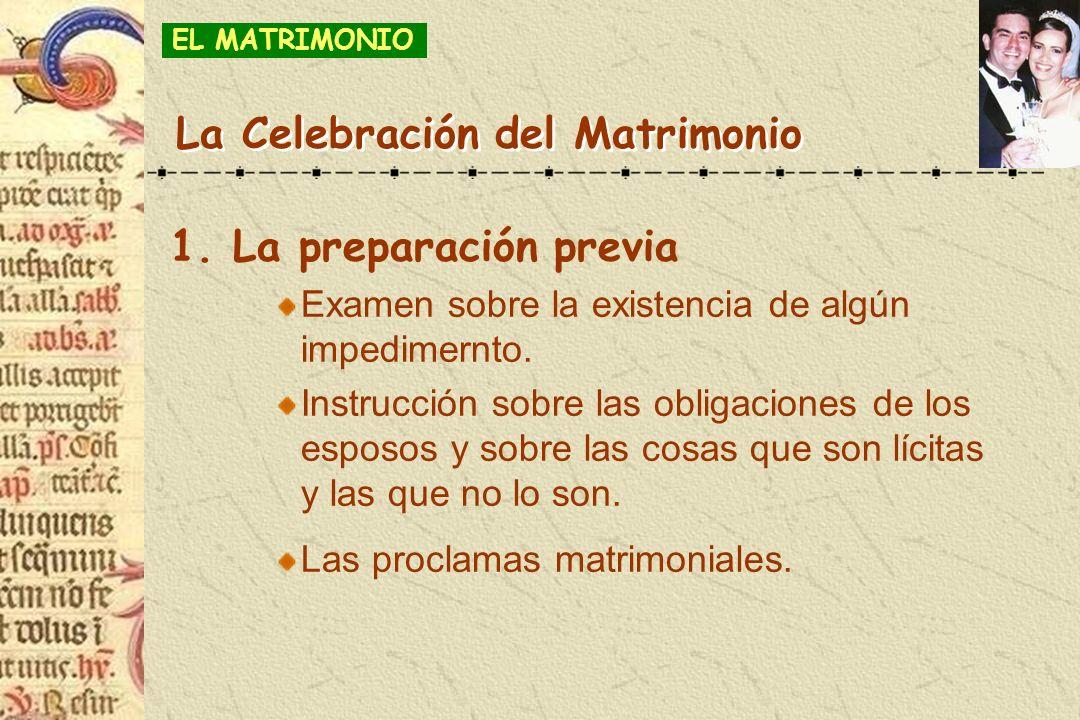 La Celebración del Matrimonio