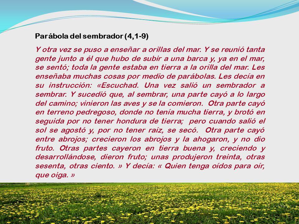 Parábola del sembrador (4,1-9)