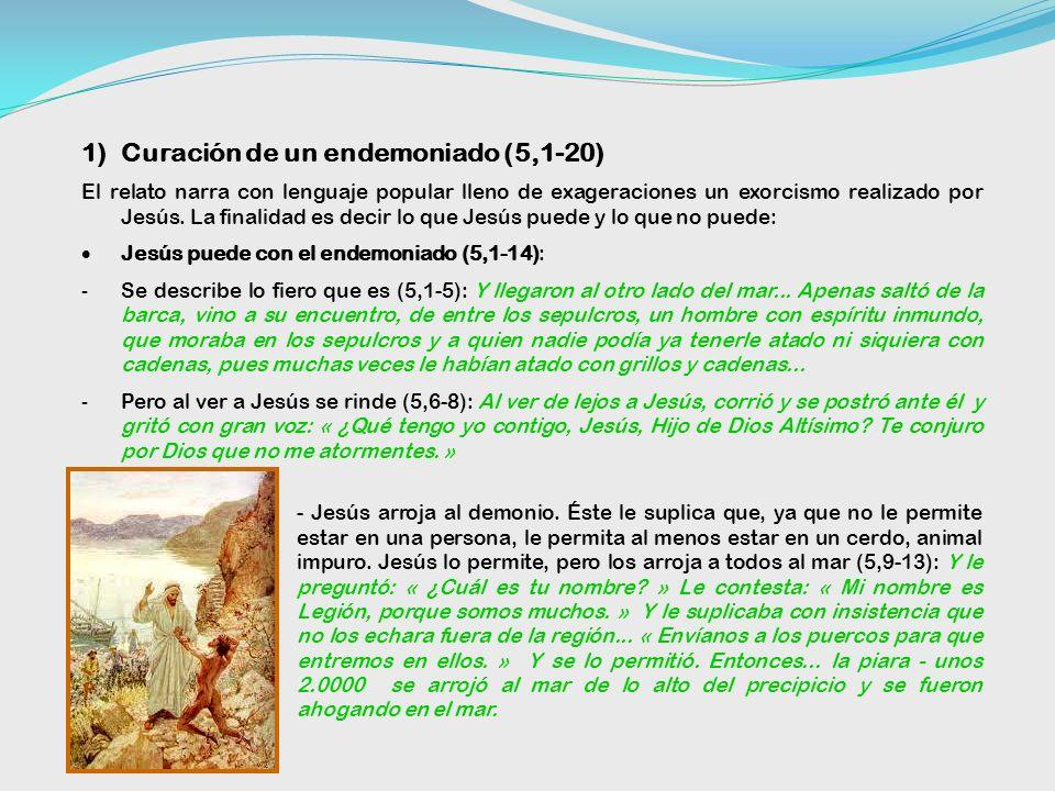 Curación de un endemoniado (5,1-20)