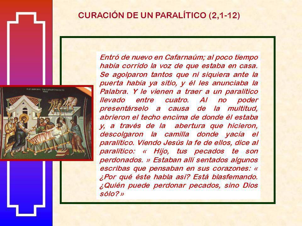 CURACIÓN DE UN PARALÍTICO (2,1-12)