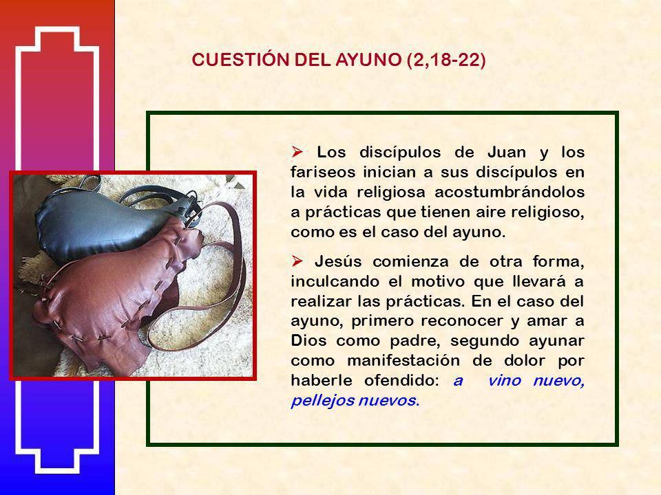 CUESTIÓN DEL AYUNO (2,18-22)