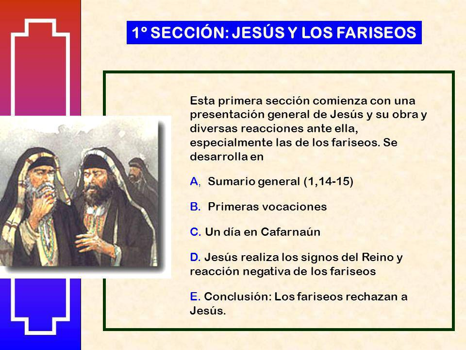 1º SECCIÓN: JESÚS Y LOS FARISEOS