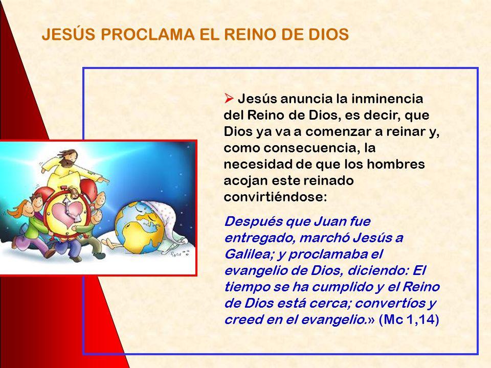 JESÚS PROCLAMA EL REINO DE DIOS