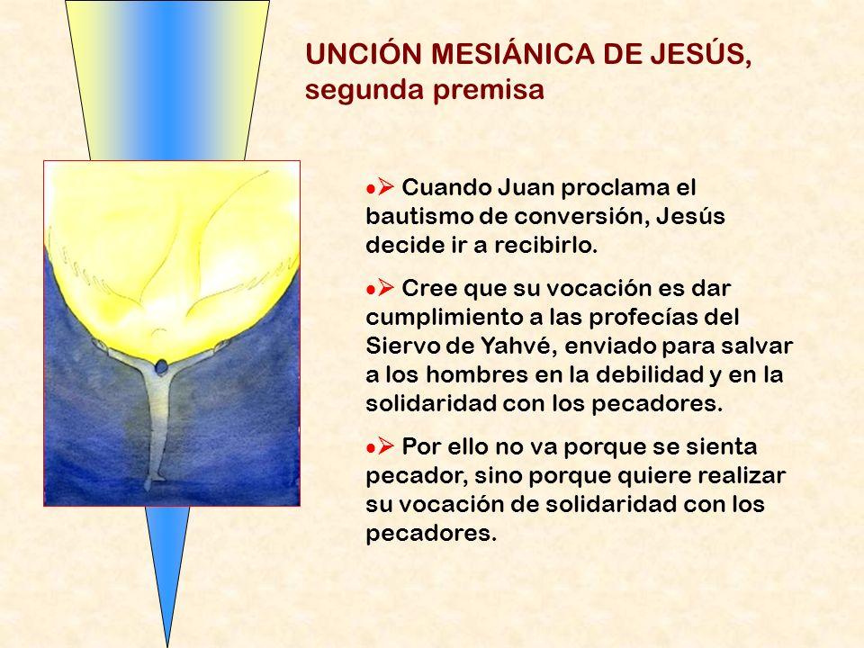UNCIÓN MESIÁNICA DE JESÚS, segunda premisa