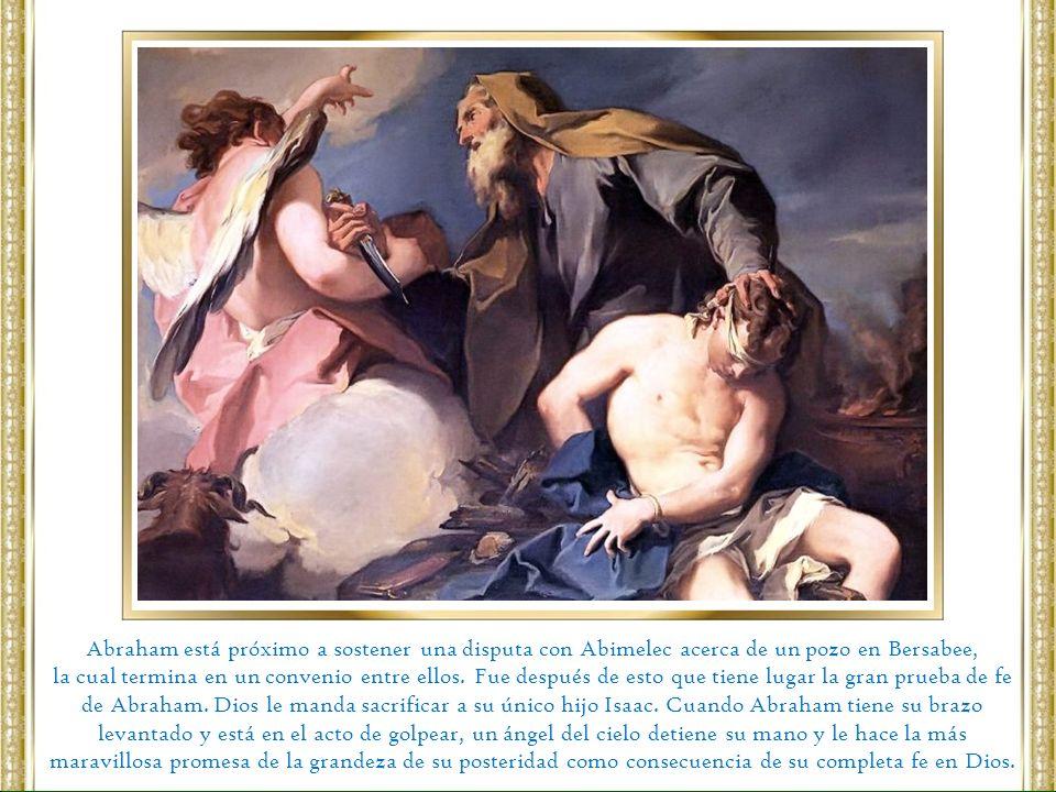 Abraham está próximo a sostener una disputa con Abimelec acerca de un pozo en Bersabee,