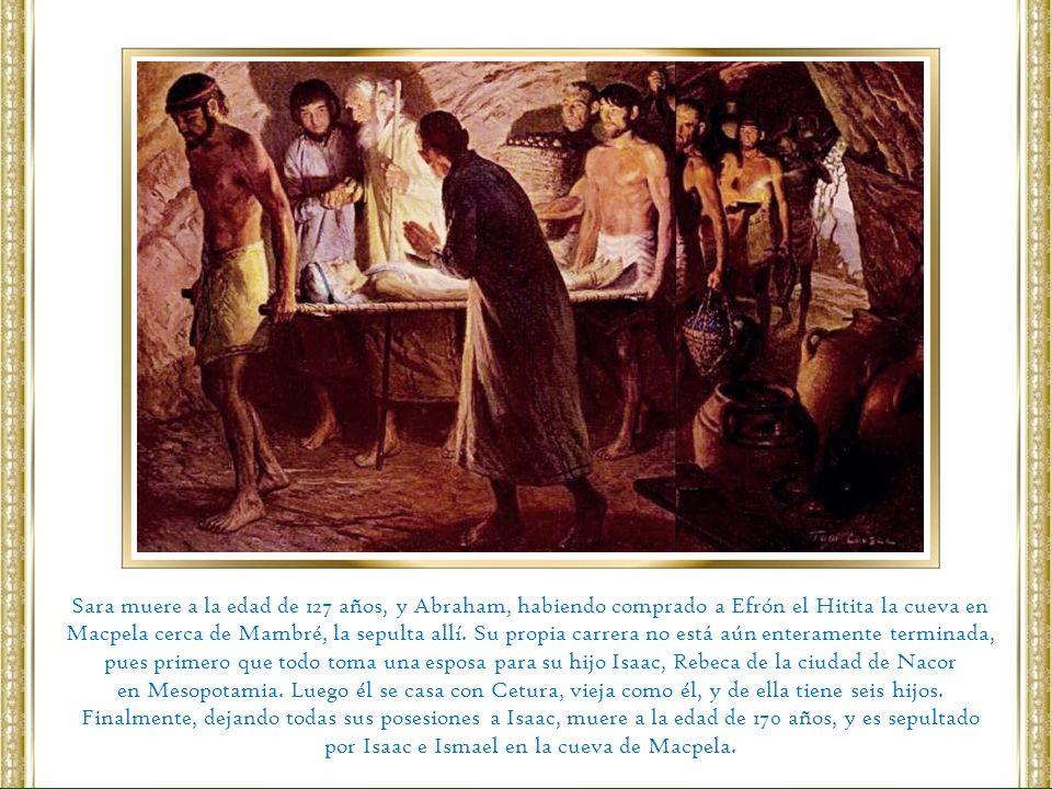 por Isaac e Ismael en la cueva de Macpela.