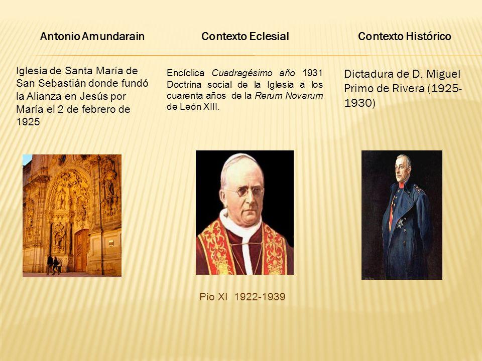 Antonio Amundarain Contexto Eclesial Contexto Histórico