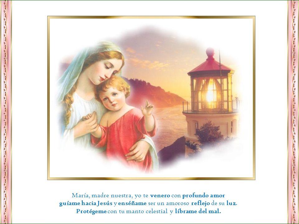 María, madre nuestra, yo te venero con profundo amor