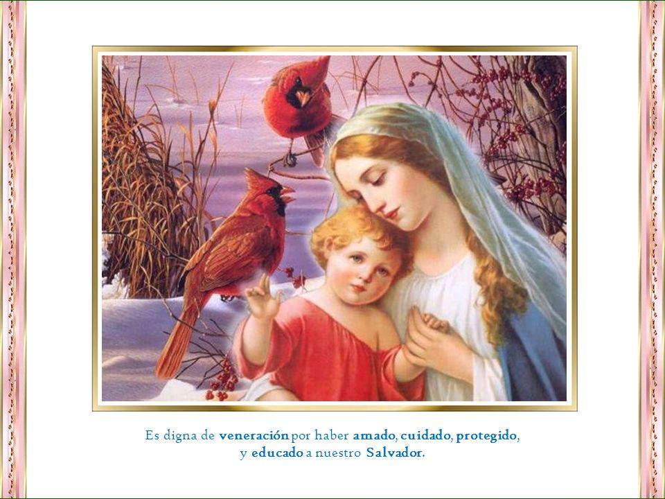 Es digna de veneración por haber amado, cuidado, protegido,