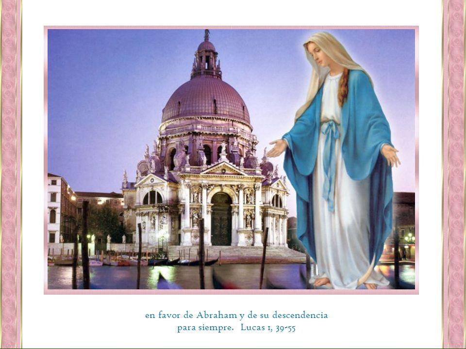en favor de Abraham y de su descendencia