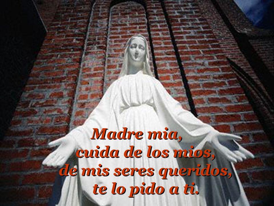 Madre mia, cuida de los mios, de mis seres queridos, te lo pido a ti.