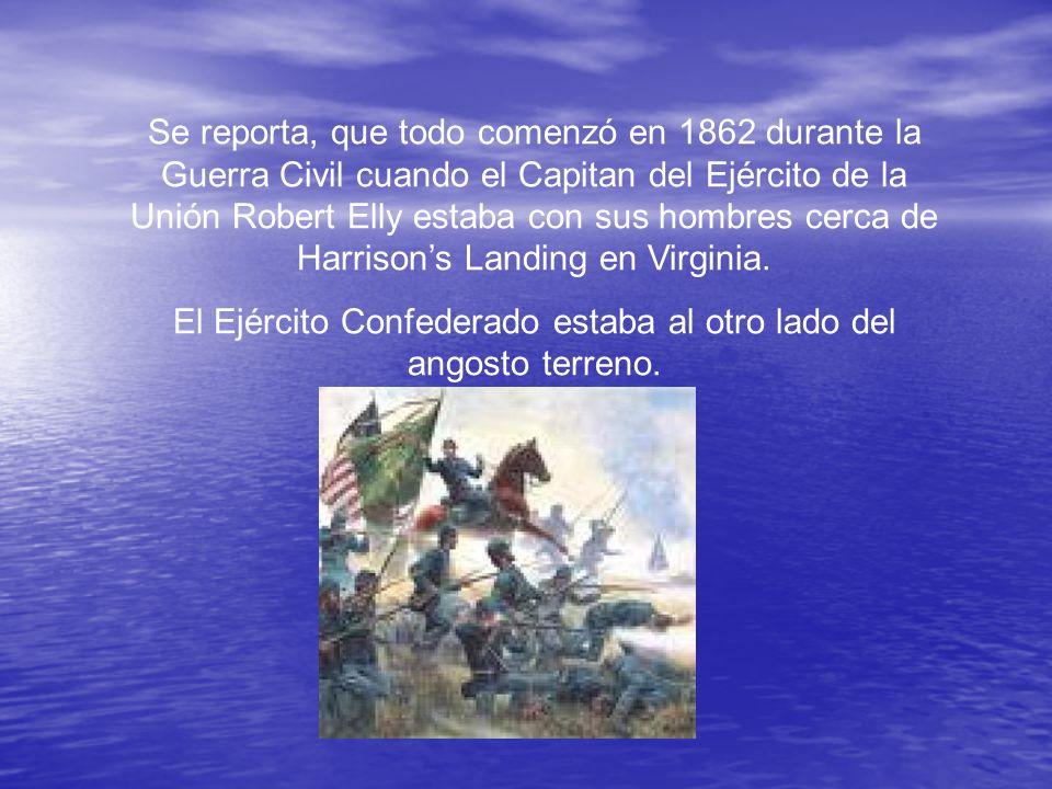 El Ejército Confederado estaba al otro lado del angosto terreno.