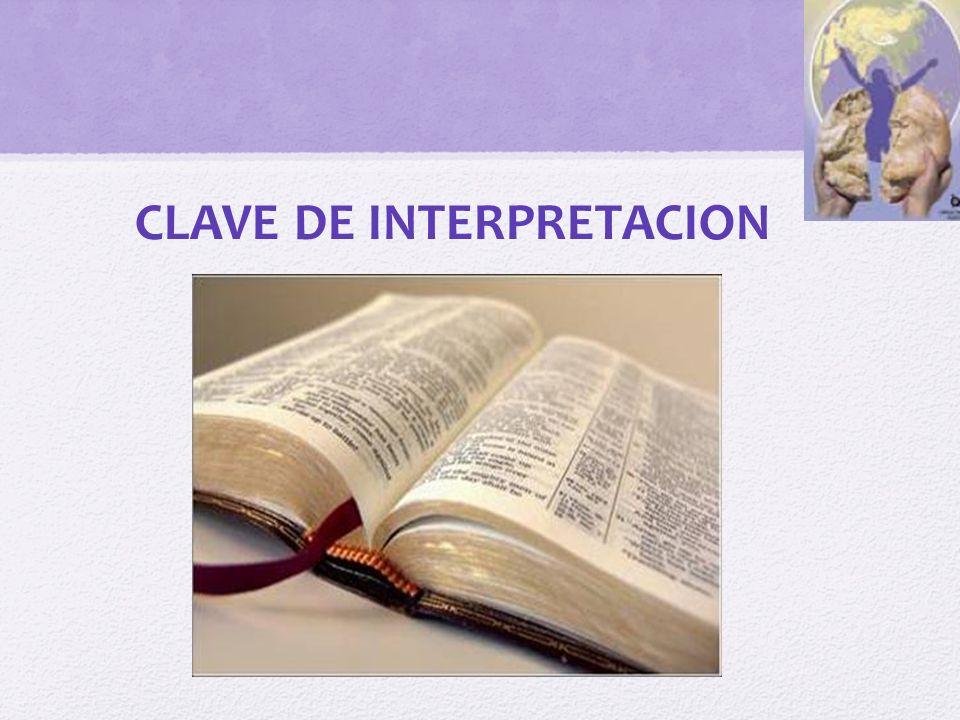 CLAVE DE INTERPRETACION