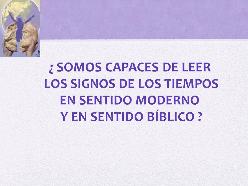 LOS SIGNOS DE LOS TIEMPOS