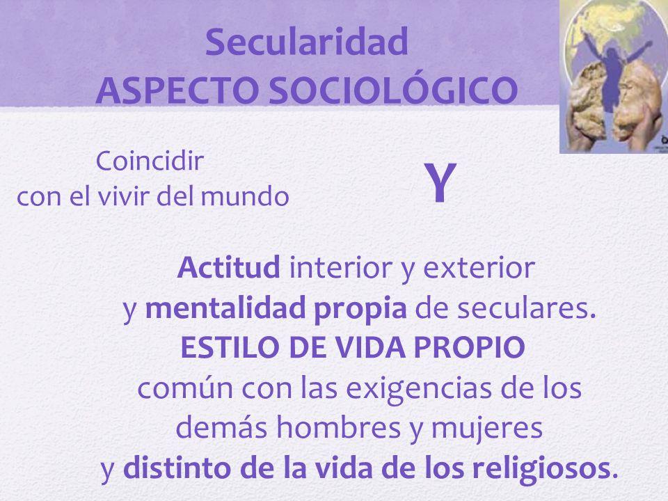 Y Secularidad ASPECTO SOCIOLÓGICO Actitud interior y exterior
