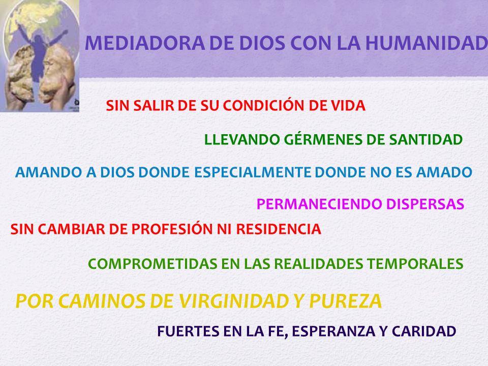 MEDIADORA DE DIOS CON LA HUMANIDAD