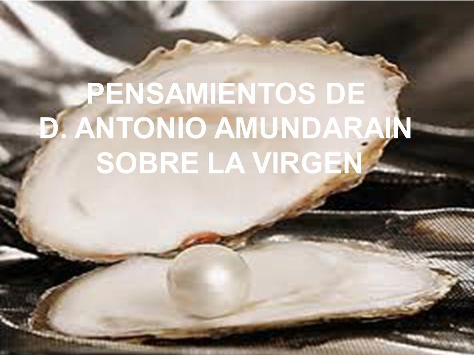 PENSAMIENTOS DE D. ANTONIO AMUNDARAIN SOBRE LA VIRGEN
