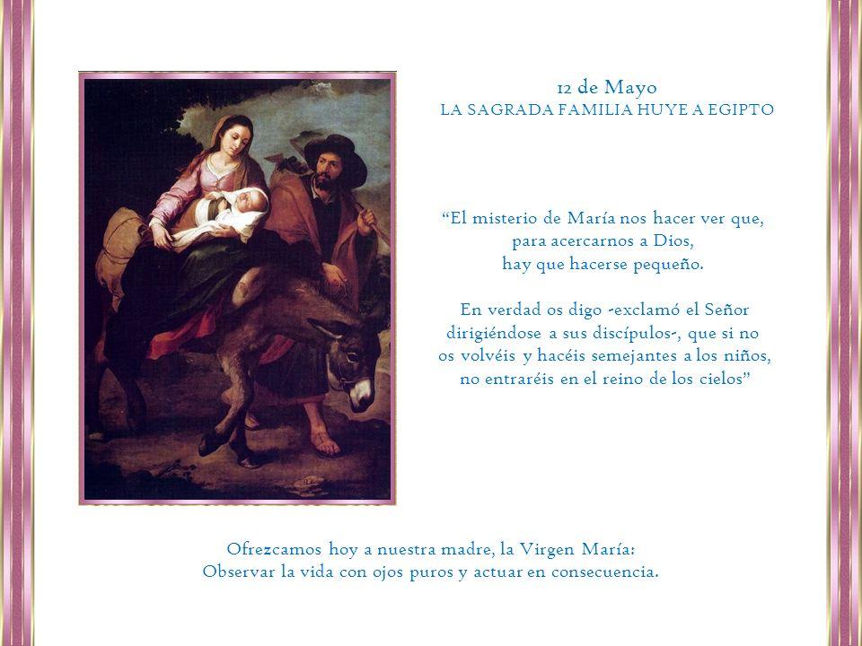 12 de Mayo El misterio de María nos hacer ver que,