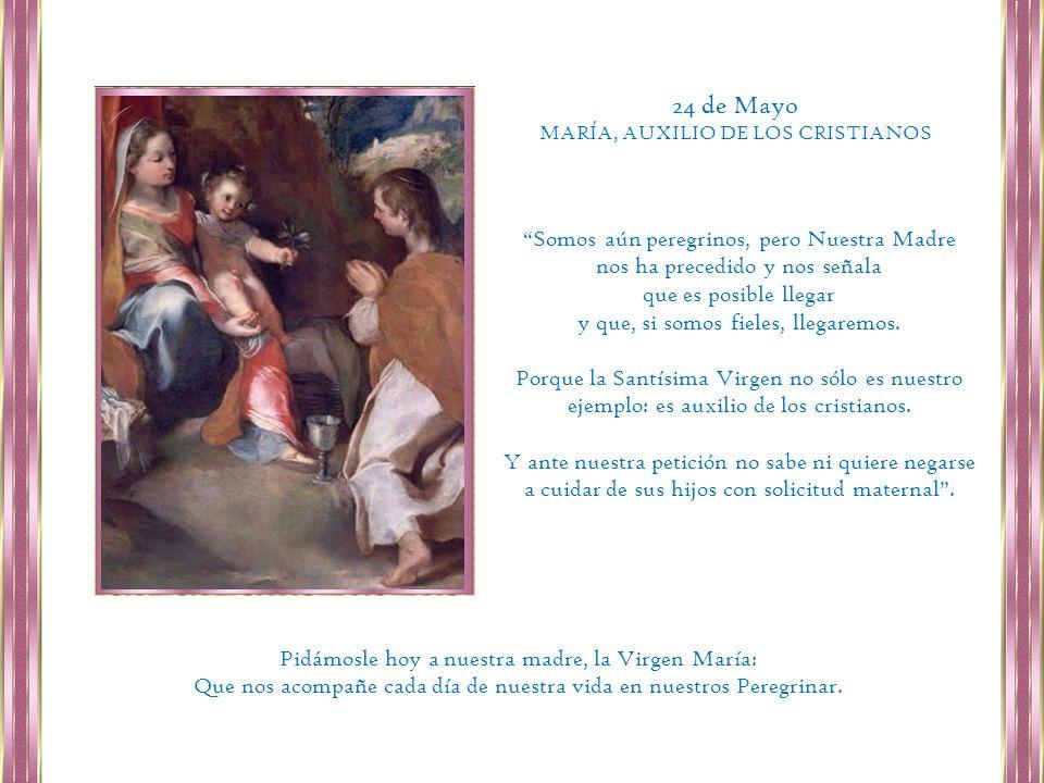 24 de Mayo Somos aún peregrinos, pero Nuestra Madre