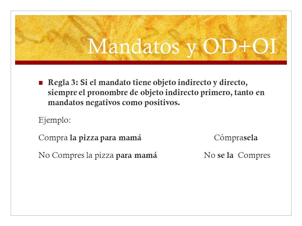 Mandatos y OD+OI