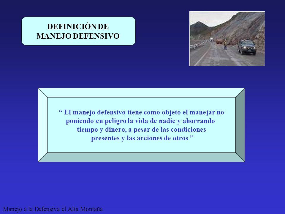 DEFINICIÓN DE MANEJO DEFENSIVO
