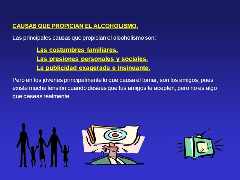 CAUSAS QUE PROPICIAN EL ALCOHOLISMO