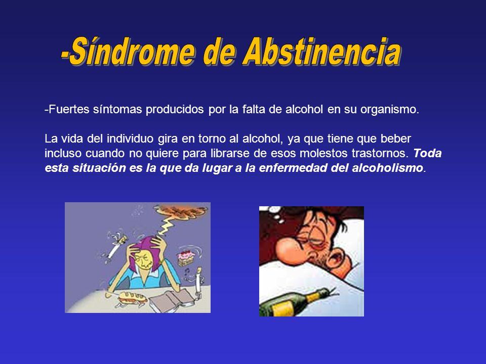 -Síndrome de Abstinencia