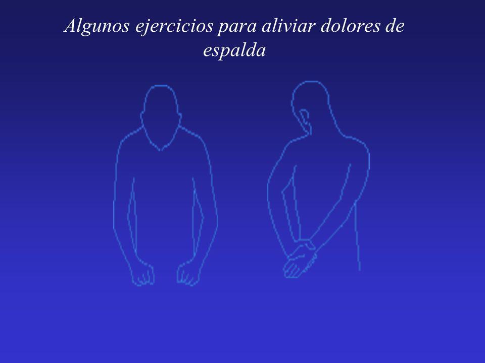 Algunos ejercicios para aliviar dolores de espalda