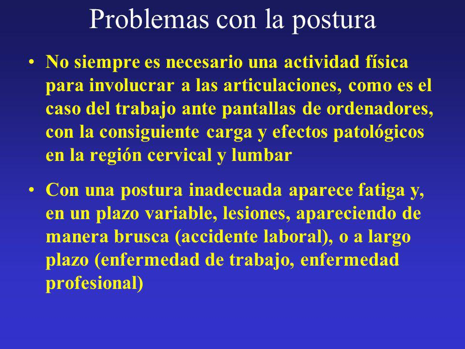 Problemas con la postura