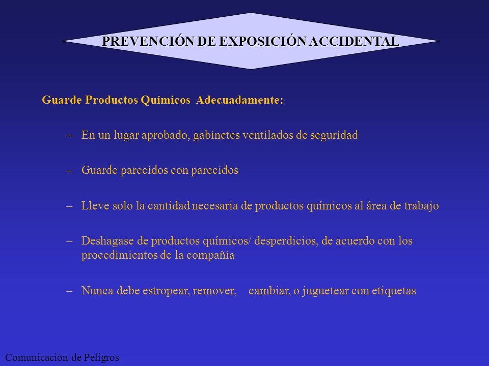 PREVENCIÓN DE EXPOSICIÓN ACCIDENTAL