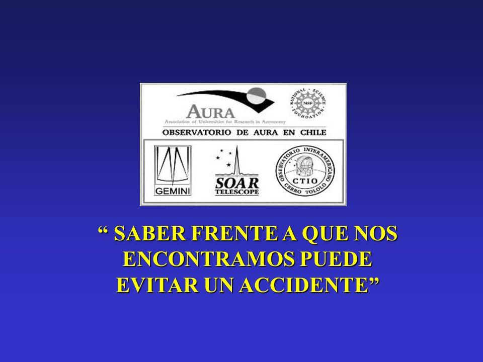 SABER FRENTE A QUE NOS ENCONTRAMOS PUEDE EVITAR UN ACCIDENTE