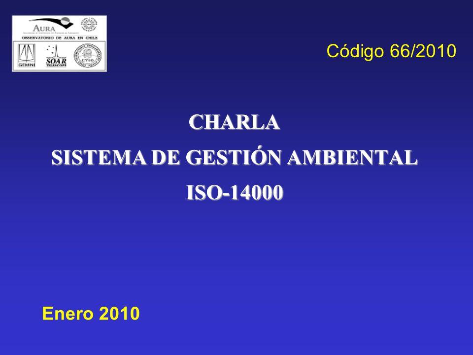 CHARLA SISTEMA DE GESTIÓN AMBIENTAL ISO-14000
