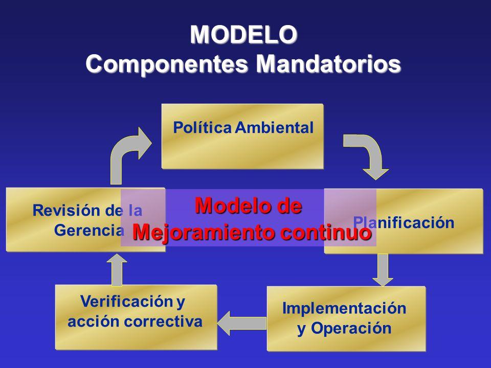 Componentes Mandatorios Mejoramiento continuo