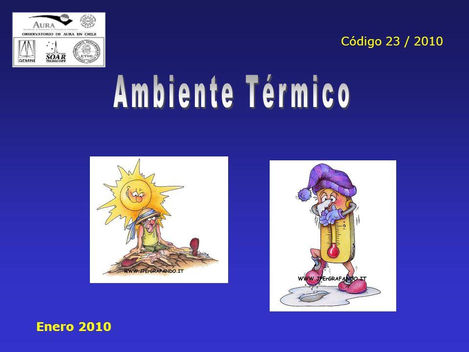 Código 23 / 2010 Ambiente Térmico Enero 2010
