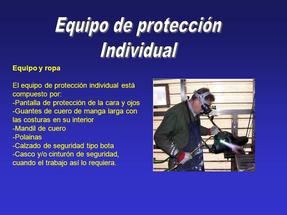 Equipo de protección Individual Equipo y ropa