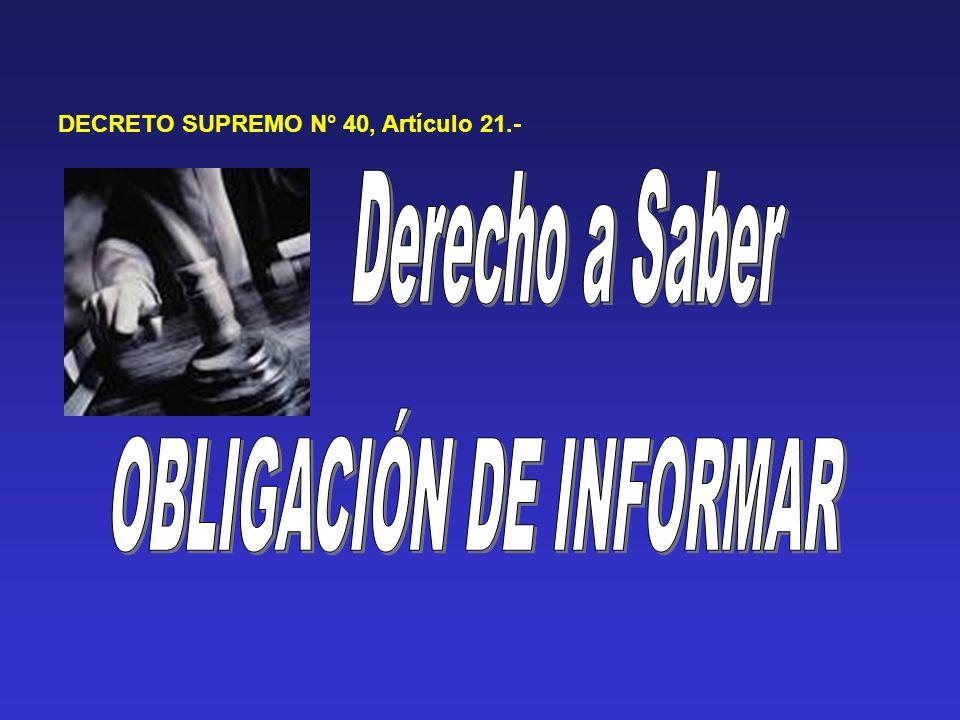OBLIGACIÓN DE INFORMAR